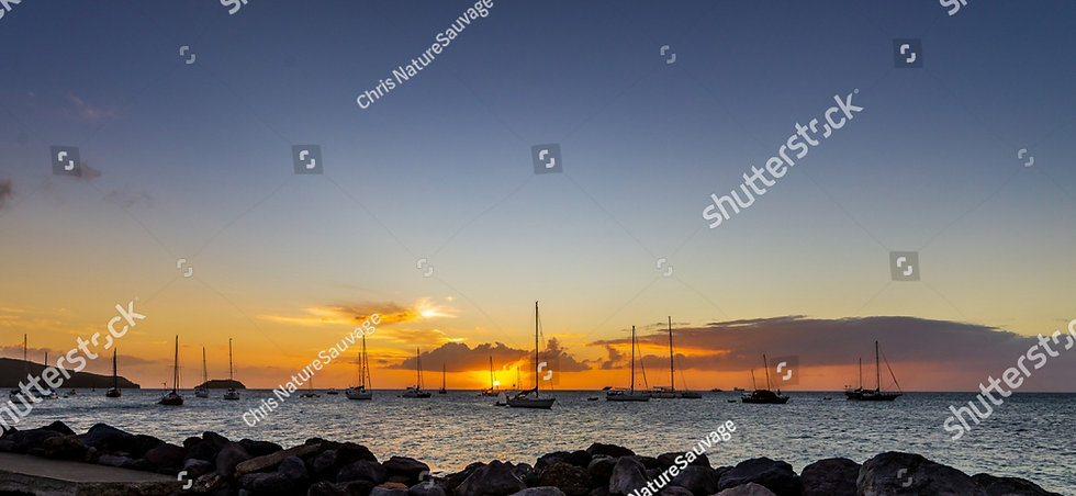 stock-photo-sunset-with-boat-at-la-point