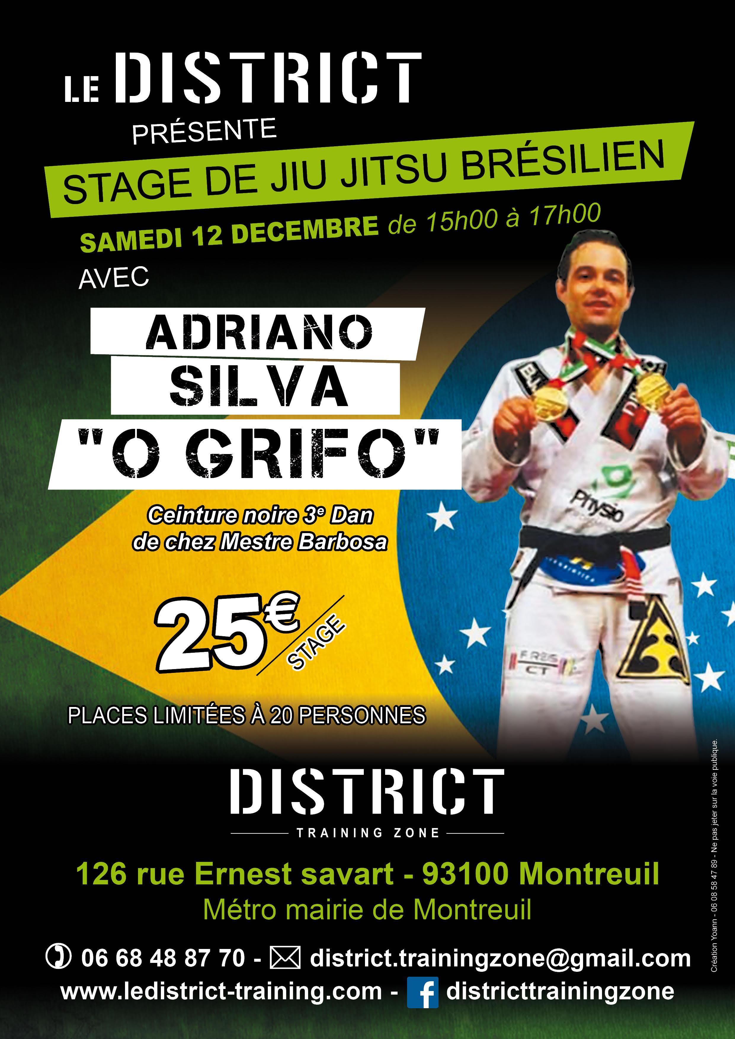 Stage de Jiu Jitsu avec Adriano