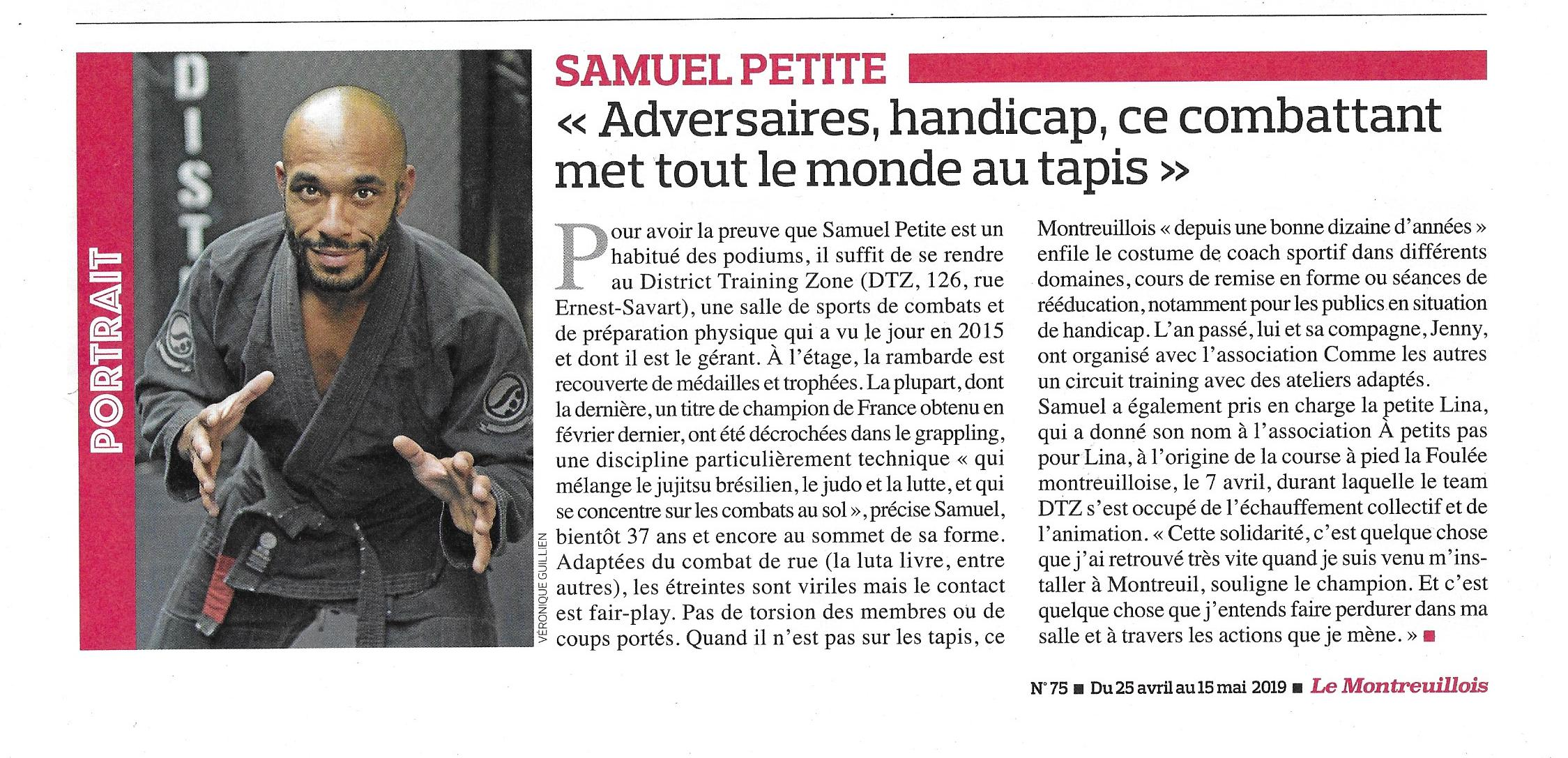 Samuel Petite ARTICLE