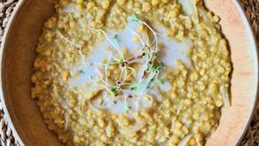 Dahl de lentilles corail coco et gingembre