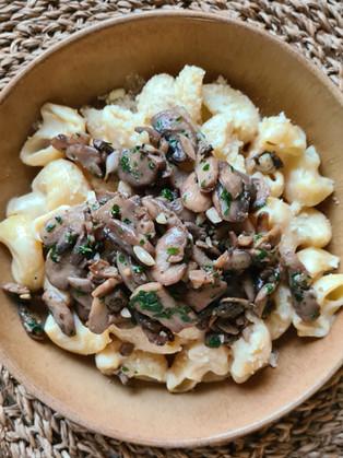 One pot pasta parmesan et champignons persillés