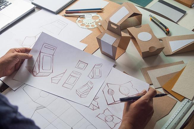 Designer sketching drawing design Brown