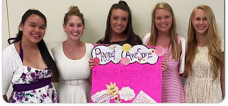 Project Awesome© -Highschool students volunteer to help kids to feel good about learning at Fill a Heart 4 Kids!