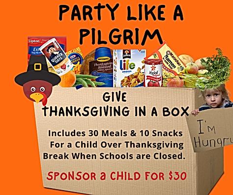 Orange Illustrated Thanksgiving Greeting