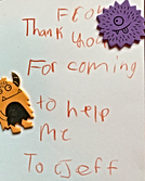 Thank you note from a foster child.