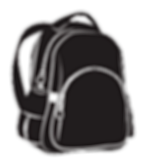 kissclipart-bag-white-black-backpack-lug