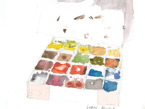 My Remaining Watercolor Half-Pan