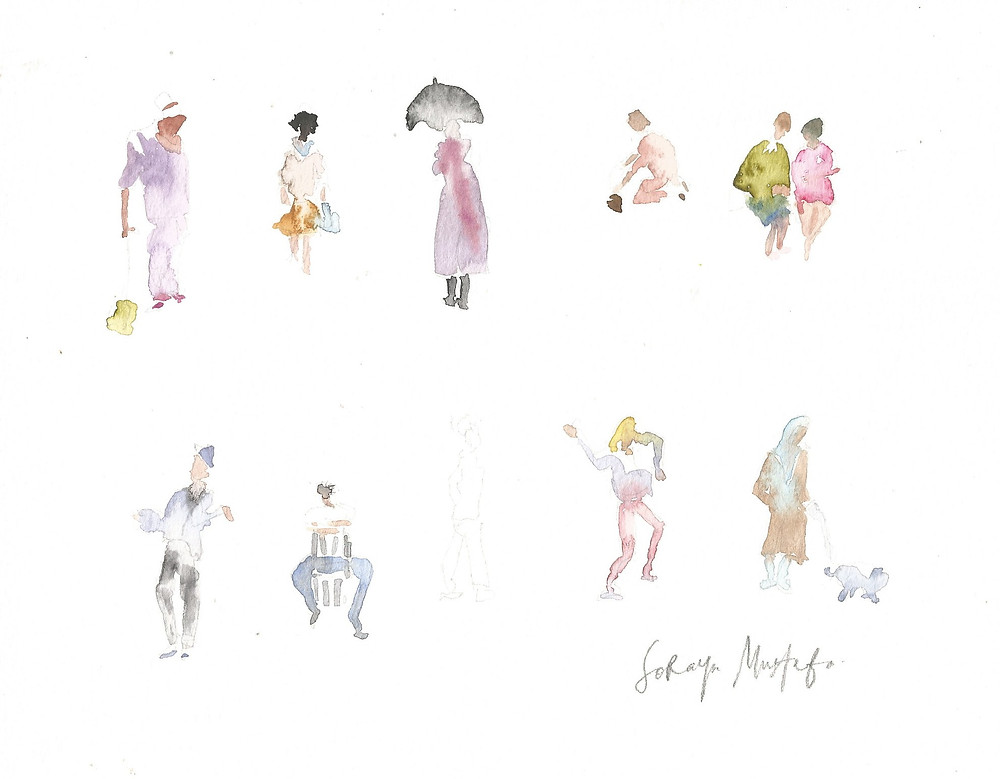 Praktik dari buku People in Watercolor by Trevor Waugh