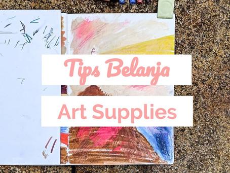 9 Tips Belanja Art Supplies