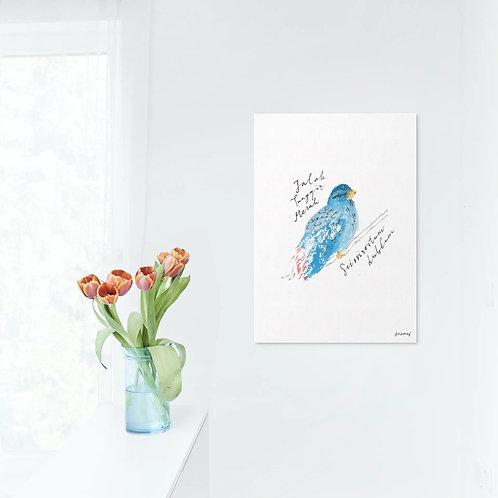 Tropical Bird: Jalak Tunggir Merah Art Print