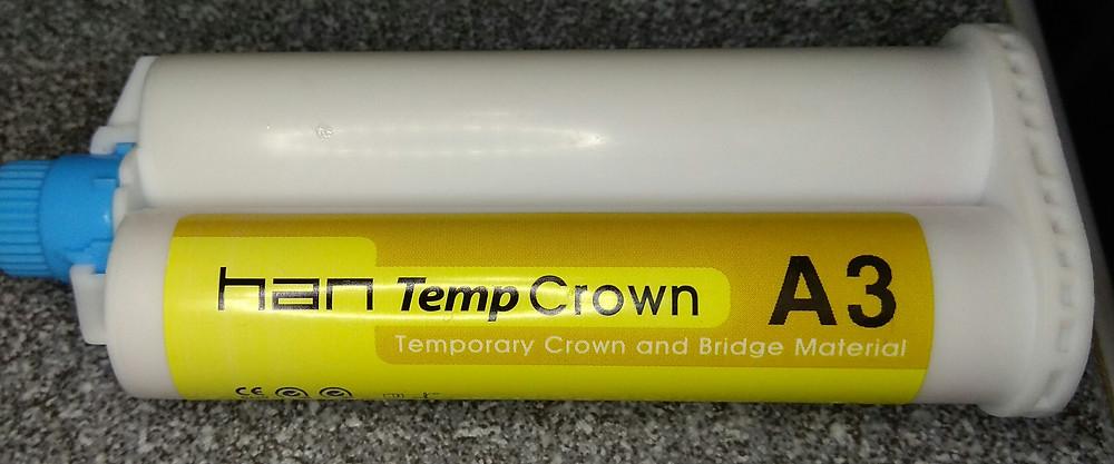 Hantemp temporary crown material