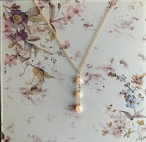 Monique Pearl Trio Necklace