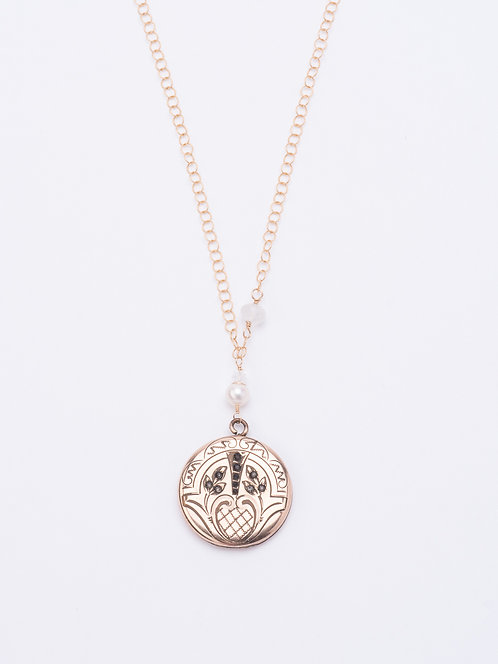 Cara Estate Locket Necklace