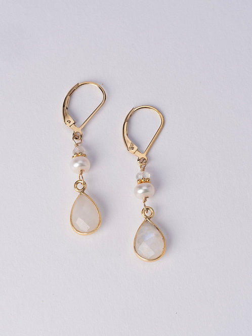 Mia Moonstone Earrings