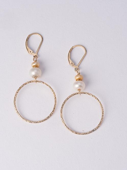 Nanci Textured Hoop Earring