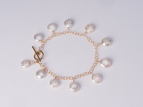 Cara Coin Pearl Bracelet