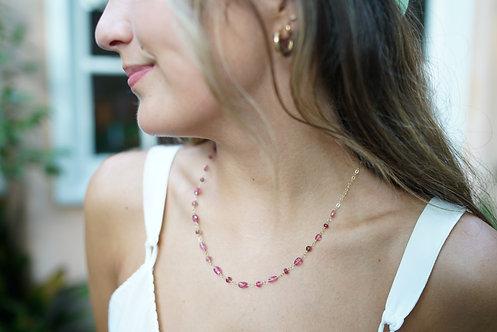 Collette Pink Tourmaline Necklace