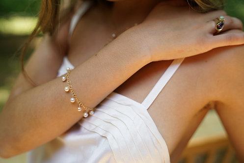 Bianca Pearl Drop Bracelet