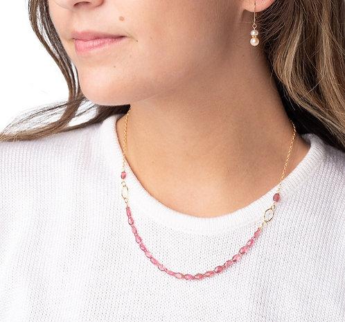 Jacquie Pink Tourmaline Necklace