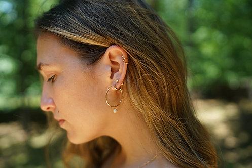 Stella Pearl Hoop Earring