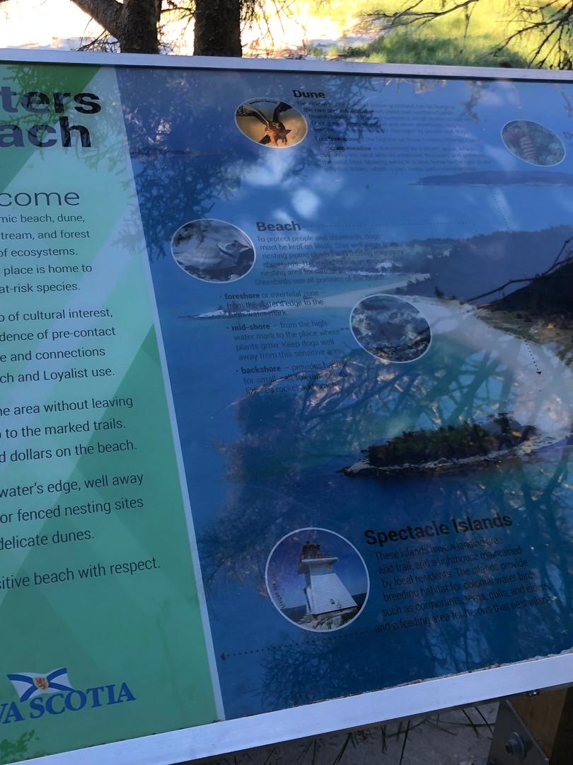 Carters Beach signage