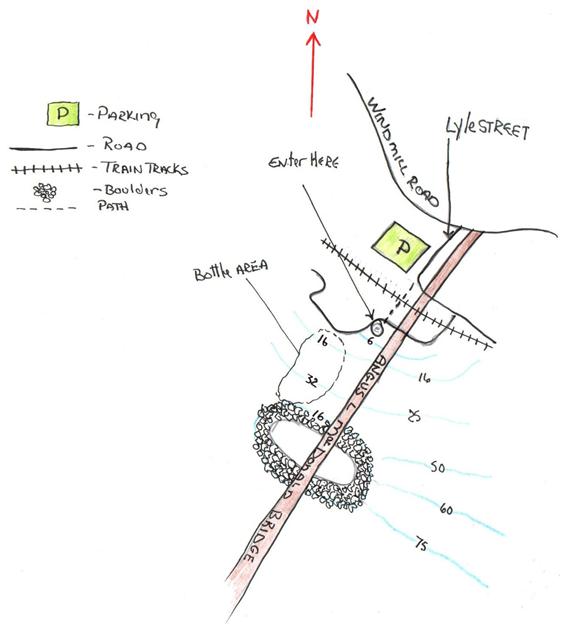 MacDonald Bridge Dive Site map.png