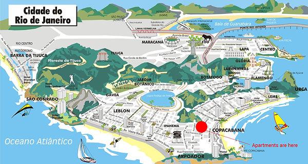 Location of Apartments in Rio de Janeiro