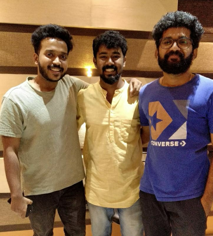 Recording Harishankar's kannada debut song composed by Juevin Singh