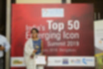 AWARDED CREATIVE DESIGNER OF THE YEAR BY GLOBAL TRIUMP FOUNDATION (TOP 50 EMERGING ICON SUMMIT 2019