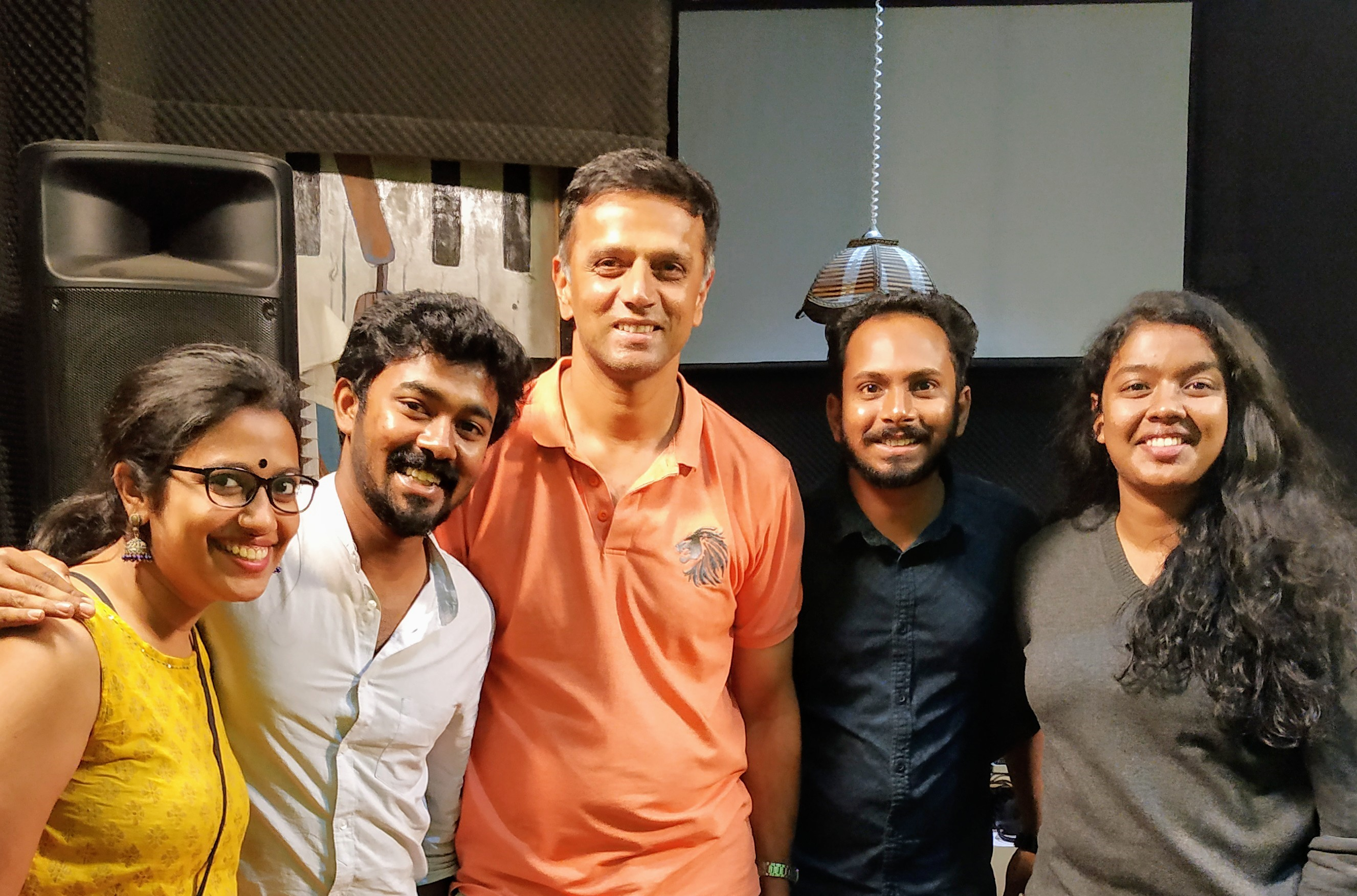 Recording with Rahul dravid
