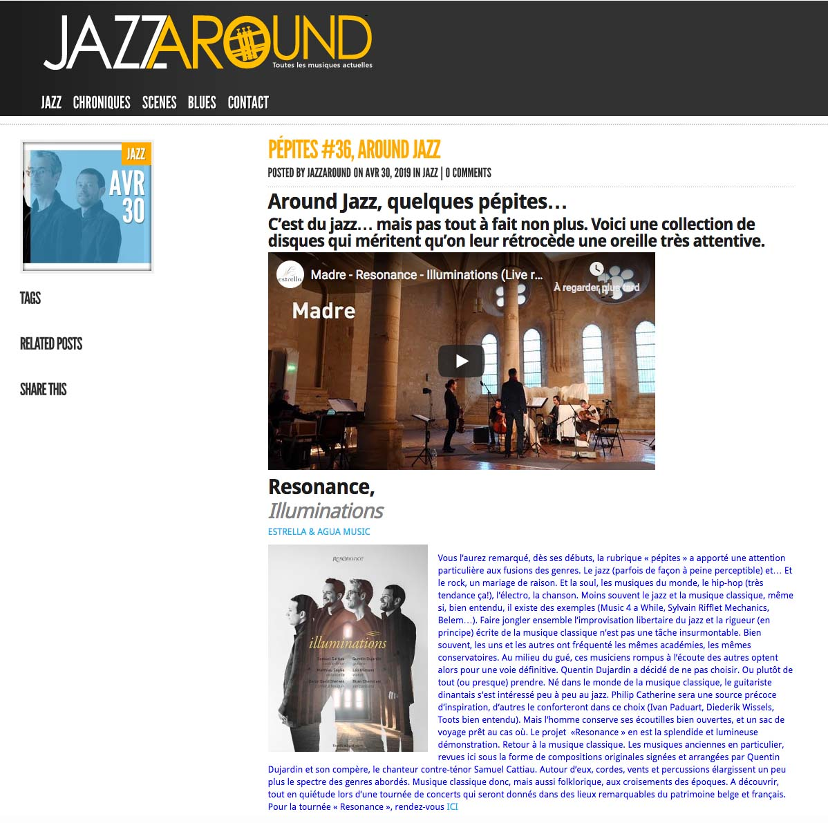 Jazzaround Illuminations avril 2019