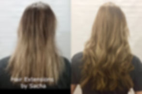 Before and after hair extensions long, healthy hair