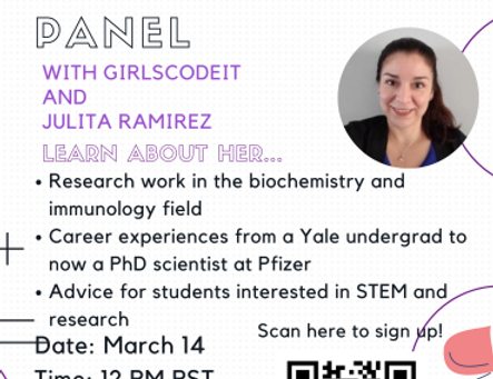 PhD Vaccine Researcher Panel with Julita Ramirez