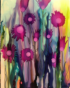 Alcohol Ink - Wild Flowers