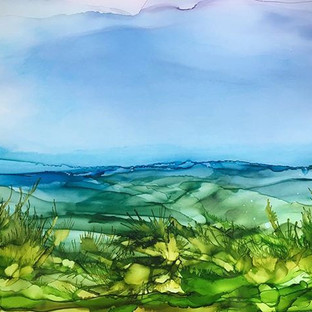 Alcohol Ink - Landscape - A3