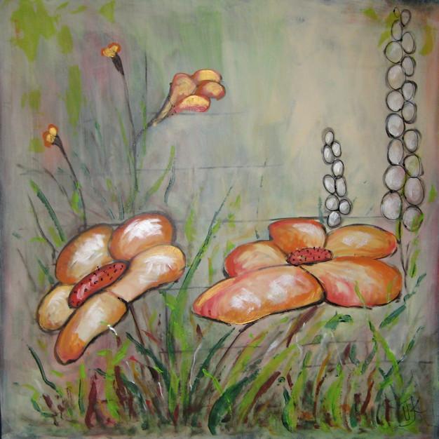 Orange flowers - 100x100