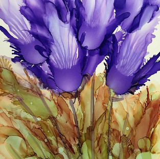 Alcohol Ink -Tulips