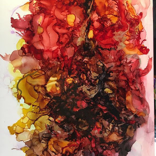 Alcohol Ink - Autumn