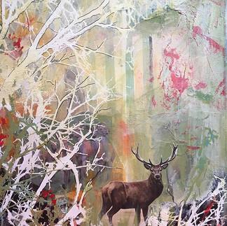 The Deer in the Woods - 30x40