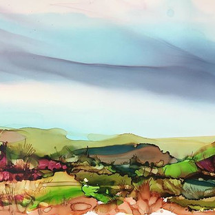 Alcohol Ink - Landscape - A3
