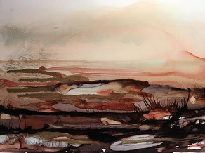 Alcohol Ink - Landscape in Colours Rust
