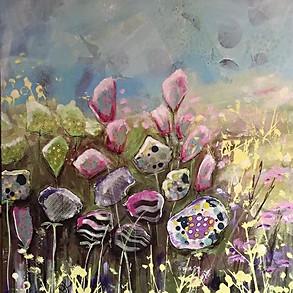 Flowerfield Pink - 50x60