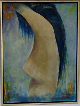 Girl with blue Hair No 2 - 60x80