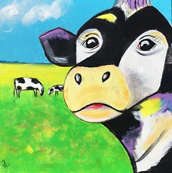 Happy Cows on Gras - 30x30