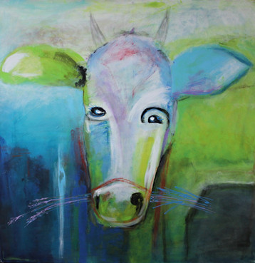 Dreaming Cow - 100x100