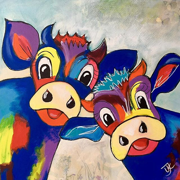 Happy Cows - 40x40