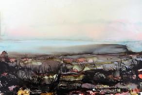 Alcohol Ink - Autum Landscape - A3