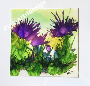 Alcohol Ink 30x30