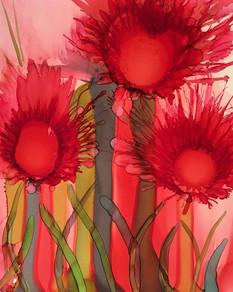 Alcohol Ink - Valentine Flowers