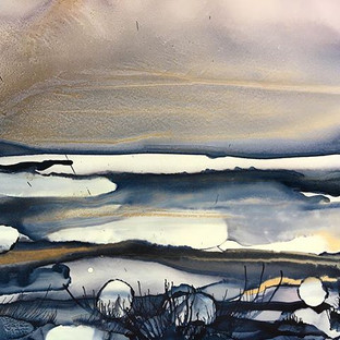 Alcohol Ink - Winther Landscape in Demin